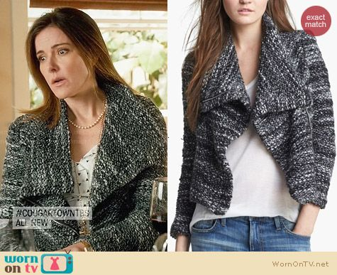 IRO Chanice Boucle Jacket worn by Christa Miller on Cougar Town