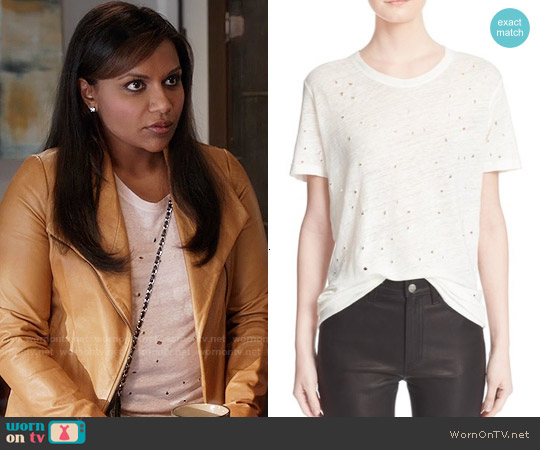 IRO Clay Tee worn by Mindy Kaling on The Mindy Project