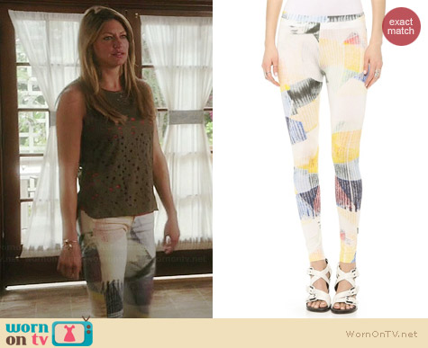 IRO Freja Leggings worn by Jess Macallan on Mistresses