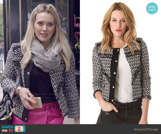 IRO Jony Jacket worn by Hilary Duff on Younger
