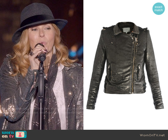 IRO Sequined Biker Jacket worn by Connie Britton on Nashville