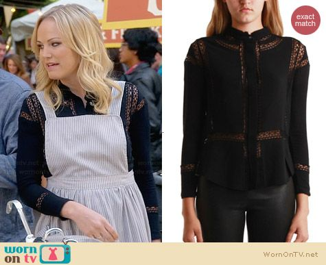 IRO Yumi Shirt worn by Malin Akerman on Trophy Wife