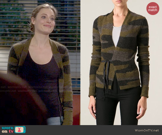 Isabel Marant Camouflage Tie Cardigan worn by Gillian Jacobs on Community