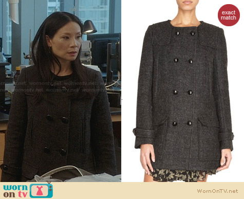 Isabel Marant Clifford Coat worn by Joan Watson on Elementary