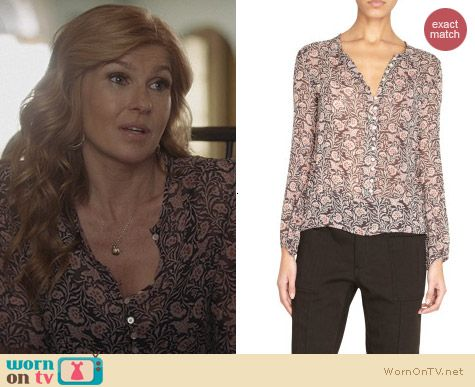 Isabel Marant Dalma Blouse worn by Connie Britton on Nashville