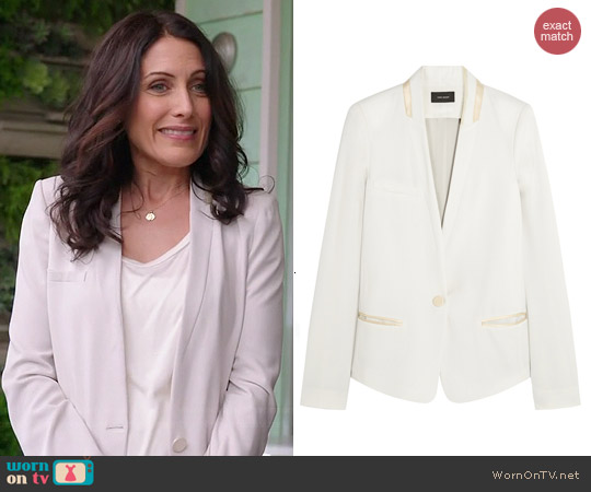 Isabel Marant Elicia Blazer worn by Lisa Edelstein on GG2D