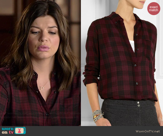 Etoile Isabel Marant Ipa Plaid Shirt worn by Casey Wilson on Marry Me