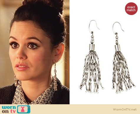 Isabel Marant for H&M Silver Earrings worn by Zoe Hart on Hart of Dixie