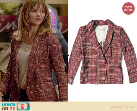 Isabel Marant Gabe Tweed Blazer worn by Katharine McPhee on Scorpion