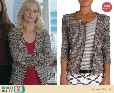 Isabel Marant Gaylord Tweed Jacket worn by Sarah Michelle Gellar on The Crazy Ones
