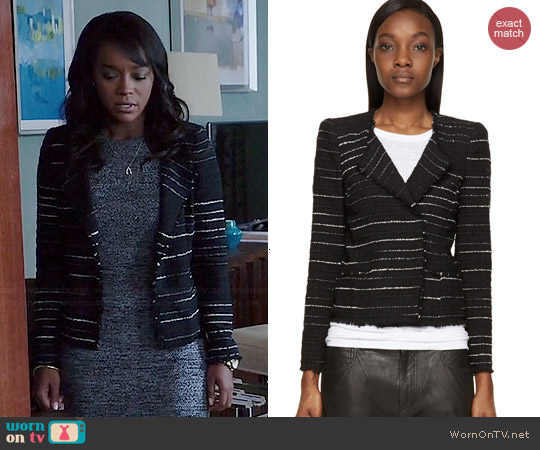 Isabel Marant Glenn Summer Cowens Jacket worn by Aja Naomi King on HTGAWM