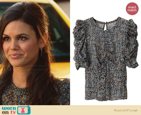 Isabel Marant for H&M Ruched Sleeve Top worn by Rachel Bilson on Hart of Dixie