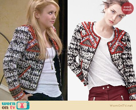 Isabel Marant for H&M Patterned Jacket worn by Taylor Sprietler on Melissa & Joey
