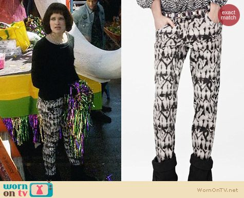 Isabel Marant for H&M Printed Jeans worn by Brina Palencia