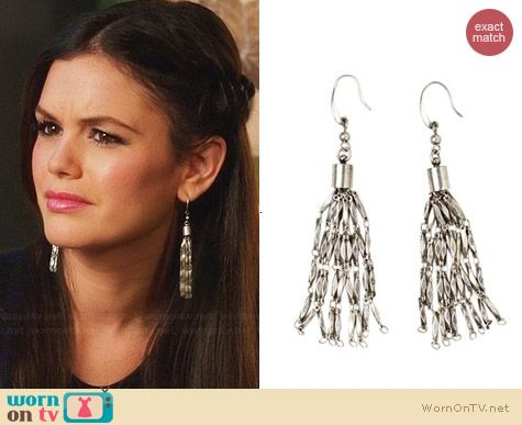 Isabel Marant for H&M Silver Drop Earrings worn by Rachel Bilson on Hart of Dixie