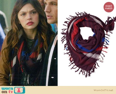 Isabel Marant for H&M Striped Scarf worn by Aimee Teegarden on Star-Crossed