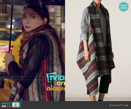 Isabel Marant Idoa Blanket Jacket worn by Sutton Foster on Younger