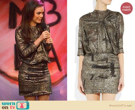 Isabel Marant Ilona Metallic Jacquard Dress worn by Rachel Bilson on Hart of Dixie