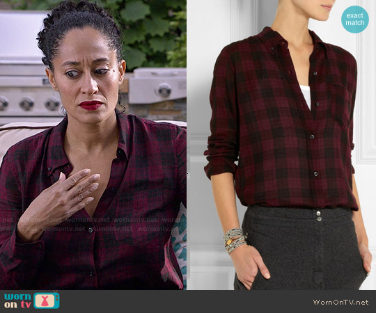 Isabel Marant Ipa Plaid Shirt worn by Tracee Ellis Ross on Blackish