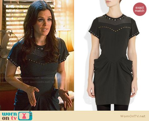 Isabel Marant Keaton Stud Embellished Dress worn by Rachel Bilson on Hart of Dixie