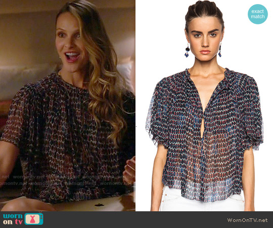 Isabel Marant 'Myriam' Top worn by Beau Garrett on GG2D