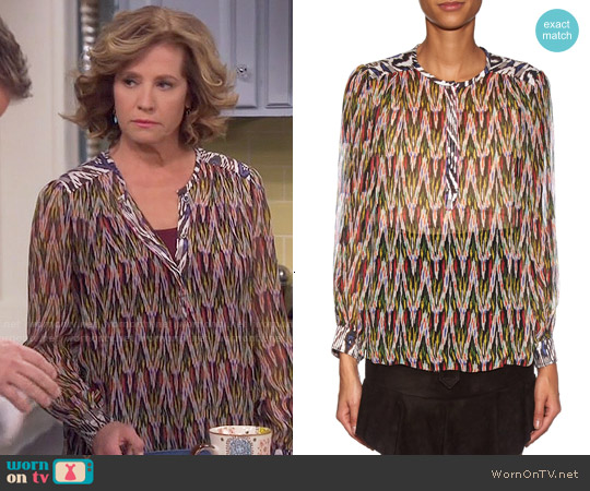 Isabel Marant Pilay Blouse worn by Nancy Travis on Last Man Standing
