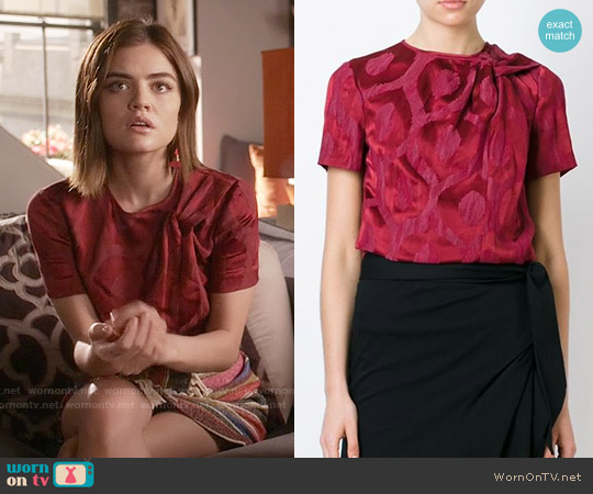 Isabel Marant Silway Jacquard Top worn by Lucy Hale on PLL