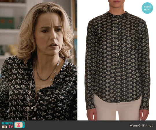 Isabel Marant 'Usak' Floral Print Silk Shirt worn by Téa Leoni on Madam Secretary