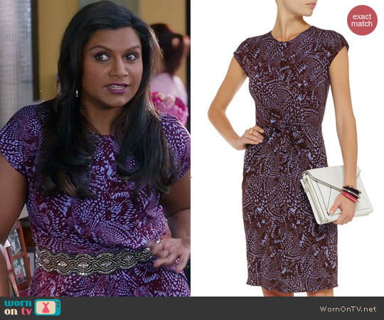 Issa Knot Front Dress worn by Mindy Kaling on The Mindy Project