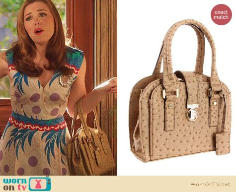 Ivanka Trump Ella Satchel in Sand worn by Kaitlyn Black on Hart of Dixie