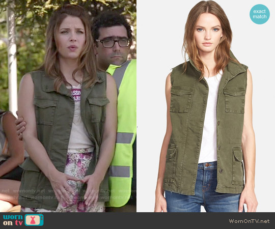 J Brand Arden Military Vest worn by Paige Spara on Kevin from Work