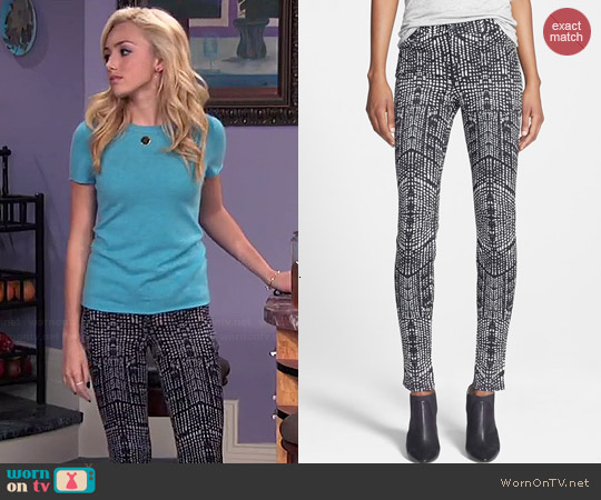 J Brand Skinny Kaleidoscope Jeans worn by Peyton List on Jessie