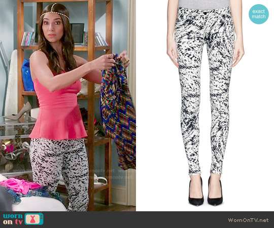J Brand Photo Ready Labyrinth Print Jeans worn by Roselyn Sanchez on Devious Maids