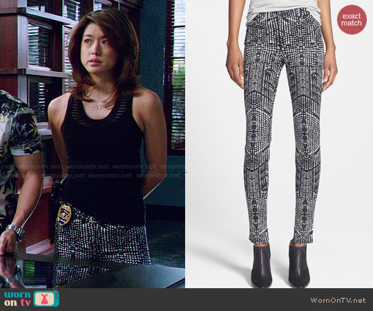 J Brand Skinny Stretch Jeans in Kaleidoscope worn by Grace Parks on Hawaii Five-O