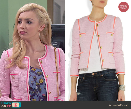 J. Crew Amanda Cotton-Tweed Jacket worn by Peyton List on Jessie