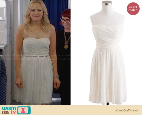 J. Crew Arabelle Dress in Ivory worn by Malin Akerman on Trophy Wife