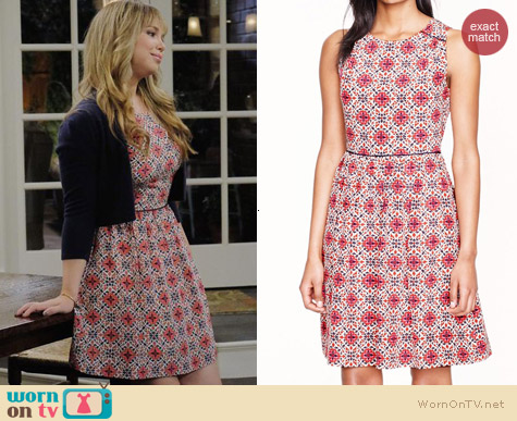 J. Crew California Poppy Dress worn by Amanda Fuller on Last Man Standing