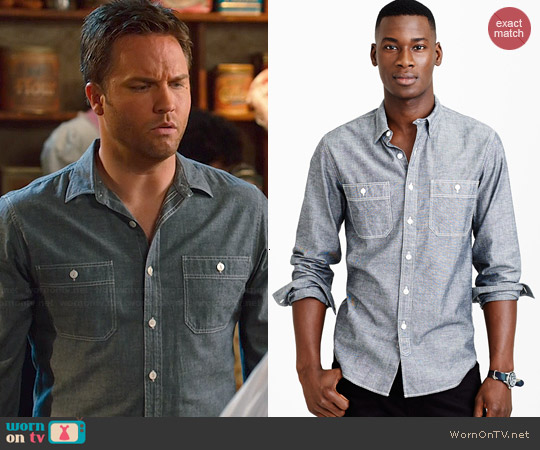 Chambray Utility Shirt worn by Scott Porter on Hart of Dixie
