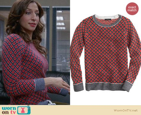 J. Crew Collection Cashmere Diamond Sweater worn by Chelsea Peretti on Brooklyn 99