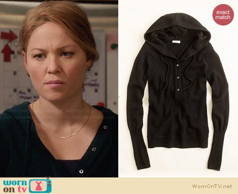 J. Crew Collection Cashmere Getaway Hoodie worn by Erika Christensen on Parenthood