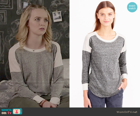J. Crew Colorblock Burnout Tee worn by Anna Jacoby-Heron on Finding Carter