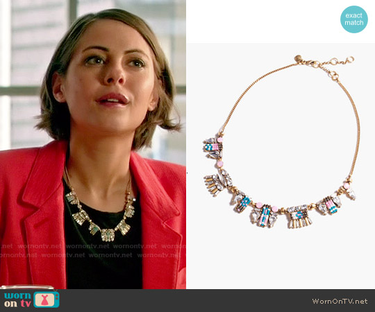 J. Crew Crystal Bead Necklace worn by Thea Queen on Arrow