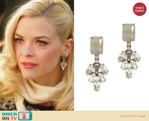 J. Crew Crystal Leaves Earrings worn by Jaime King on Hart of Dixie