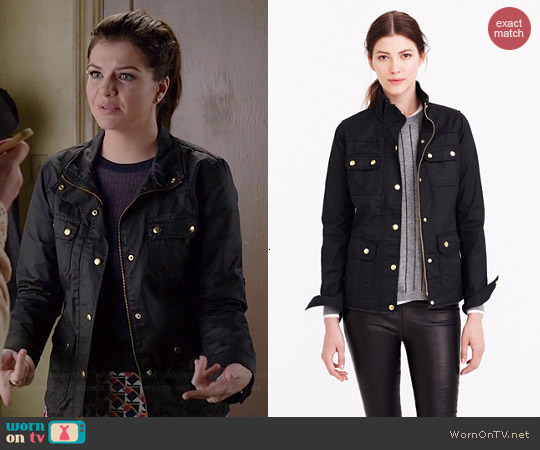 J. Crew The Downtown Field Jacket worn by Casey Wilson on Marry Me