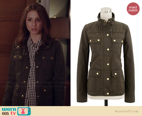 J. Crew The Downtown Field Jacket worn by Troian Bellisario