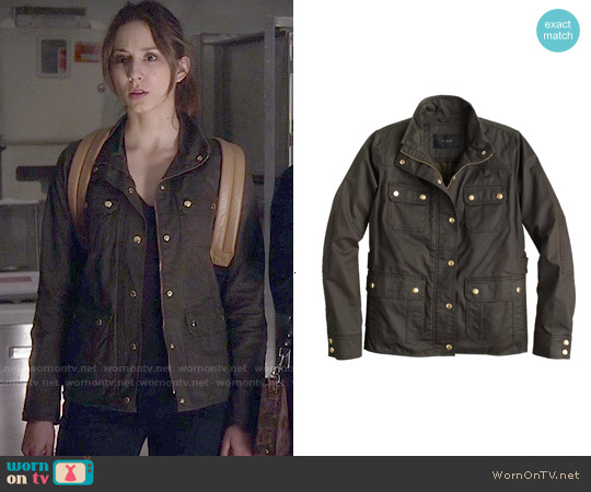 J. Crew The Downtown Field Jacket worn by Troian Bellisario on PLL