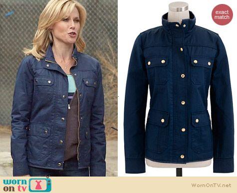 J. Crew Downtown Field Jacket in navy worn by Julie Bowen on Modern Family