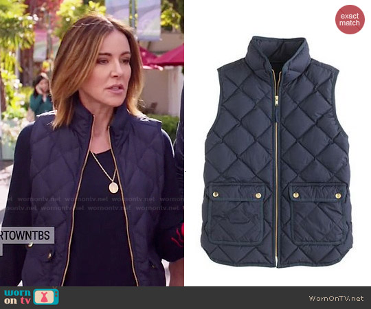 J. Crew Excursion Quilted Down Vest worn by Ellie Torres on Cougar Town