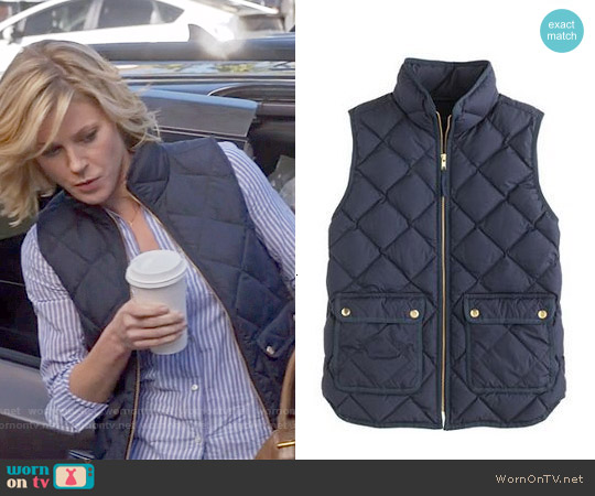 J. Crew Excursion Quilted down Vest worn by Claire Dunphy on Modern Family
