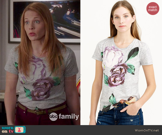 J. Crew Exploded Floral Tee worn by Katie Leclerc on Switched at Birth